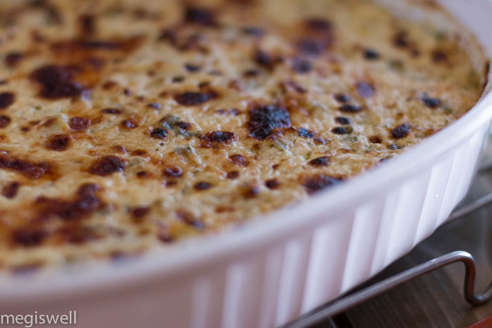 The crispy golden gooey goodness that is Artichoke and Jalapeño Cheese Dip heaven www.megiswell.com