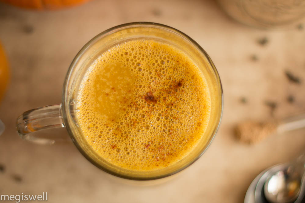 Hot and frothy Pumpkin Chai Tea Latte
