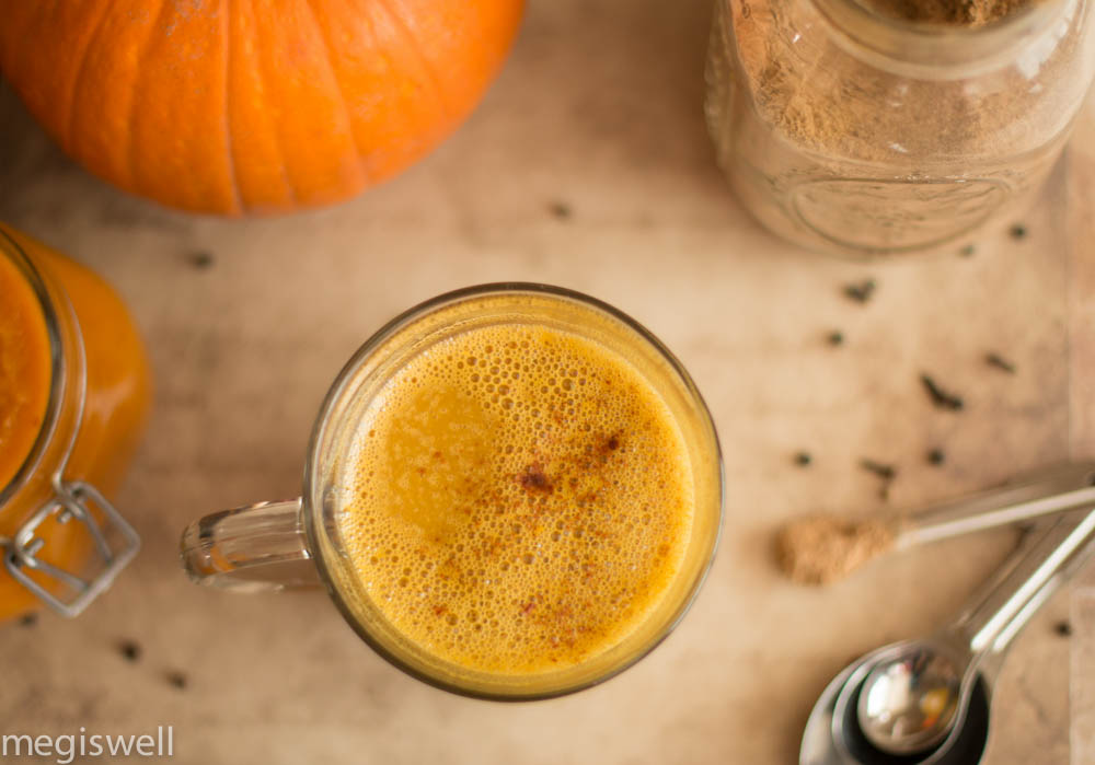 Food lab: the pumpkin and pumpkin puree, chai masala mix, and the finalized creation