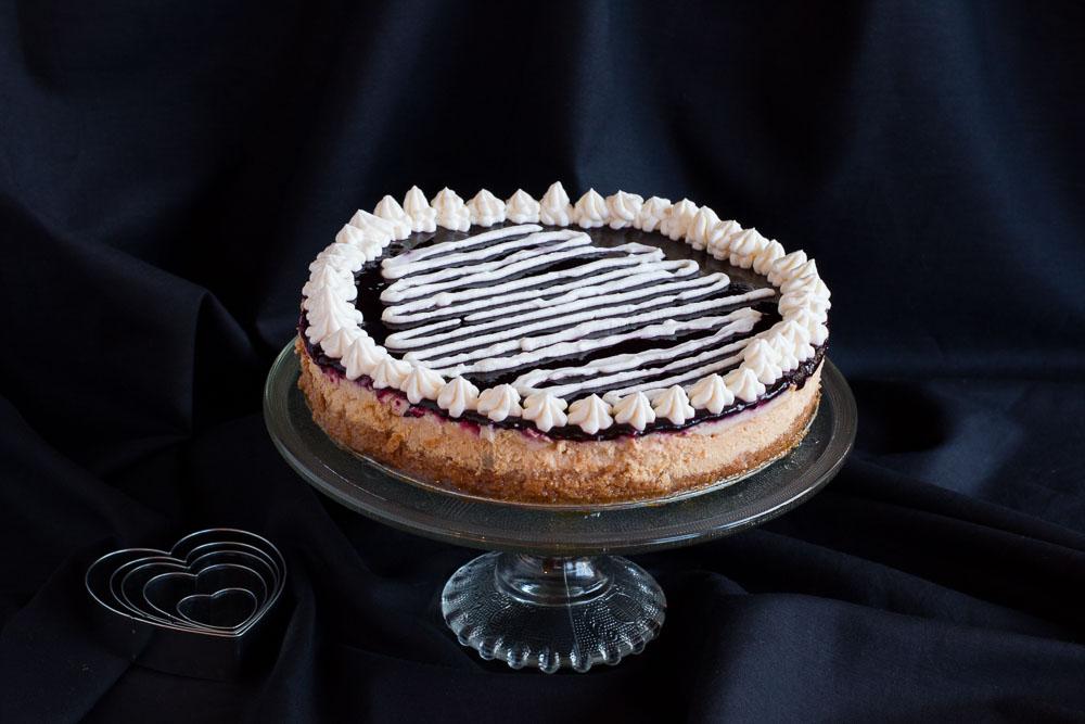 Creamy Baked Cheesecake with a Cherry Glaze