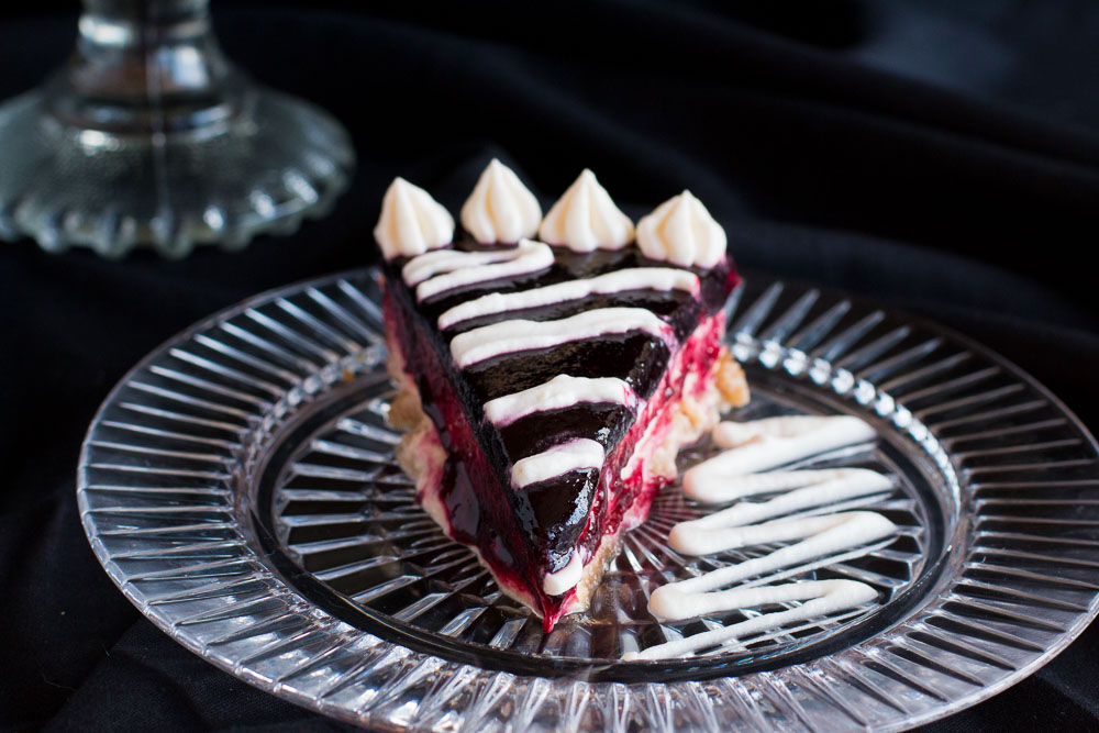 Creamy Baked Cheesecake with a Cherry Glaze
