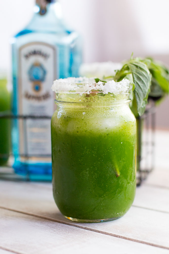 "Basil-Gin Lemonade or ""The Nickelodeon"""
