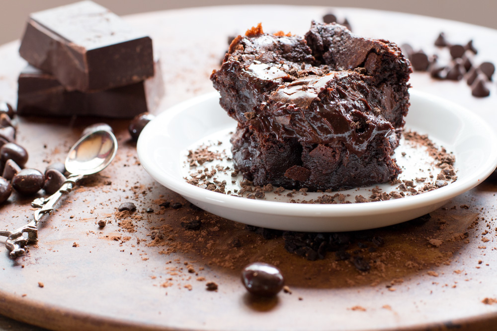Gooey, gooey, gooey brownies.