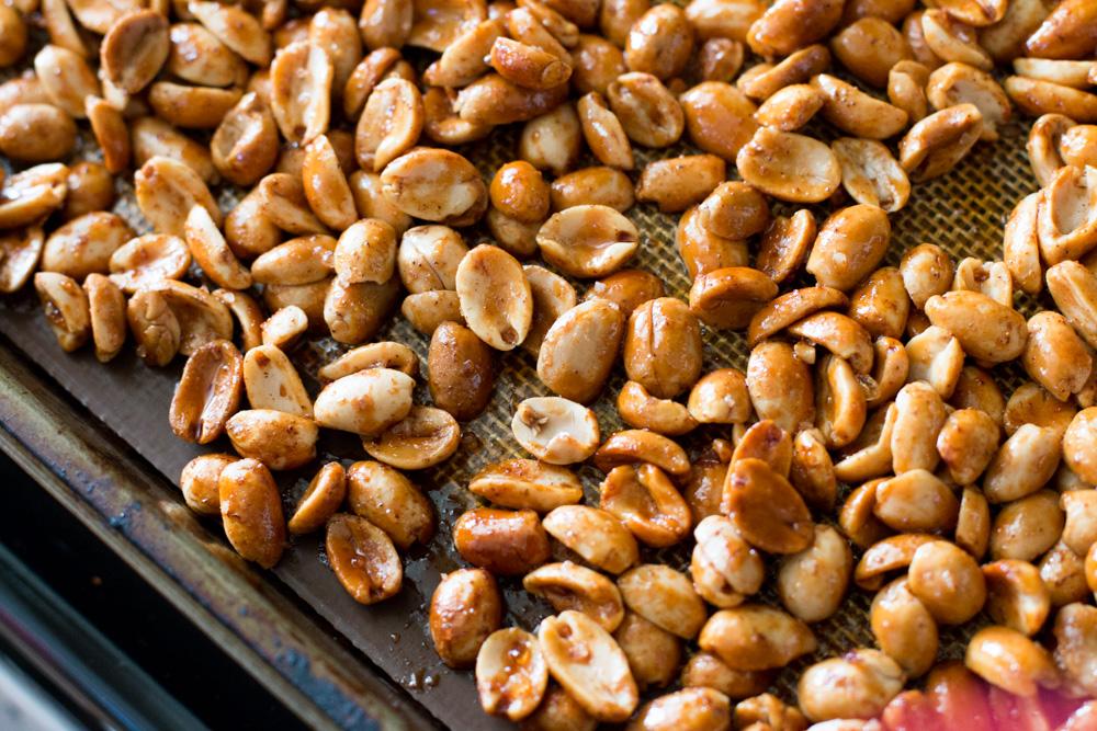 seasoned peanuts after roasting