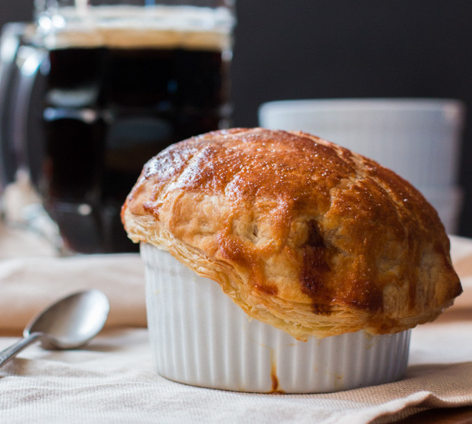 Individual Japanese Beef Curry Potpies. The comfort of Japanese Beef Curry is fused with potpies and the results are amazing.