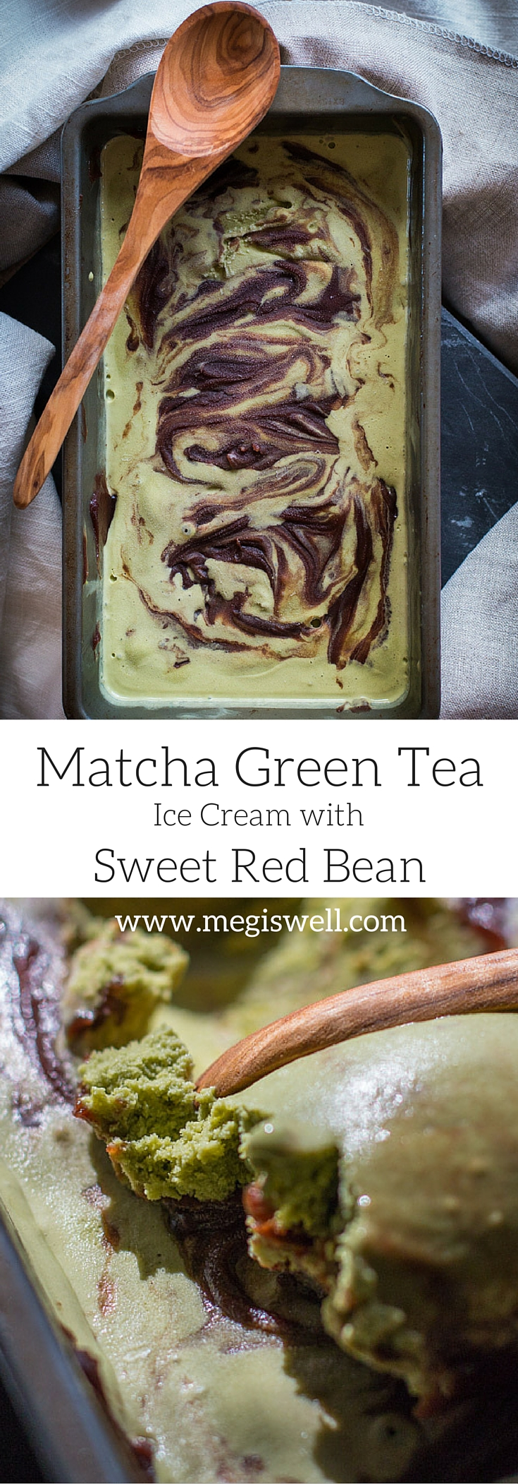This Matcha Green Tea Ice Cream with Sweet Red Bean is creamy and soft with a definite bite of matcha tea that is tempered with the sweetness of the red bean paste.