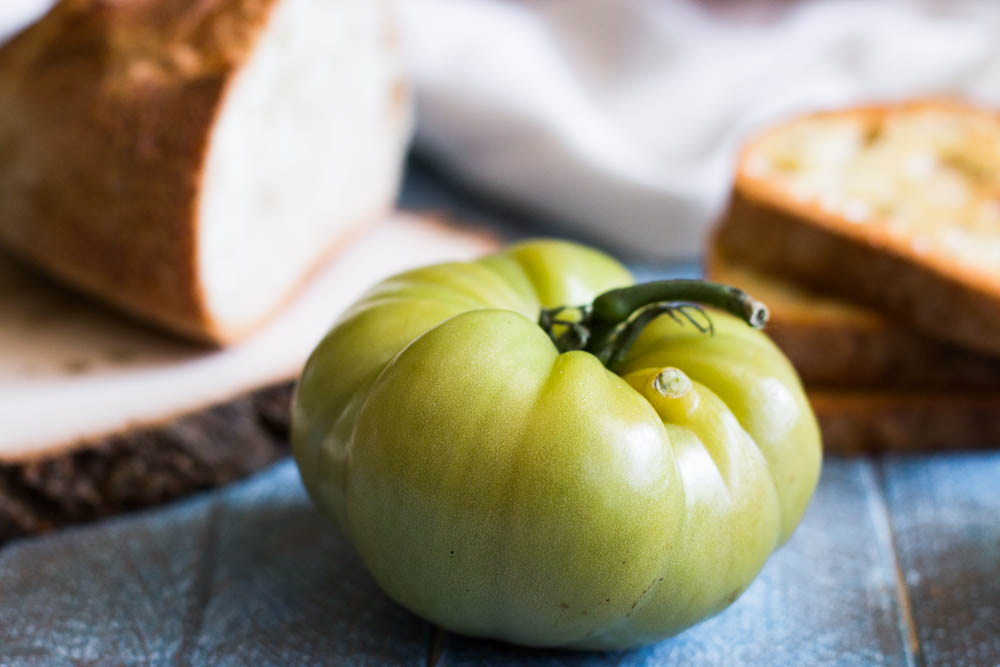 Green heirloom tomato