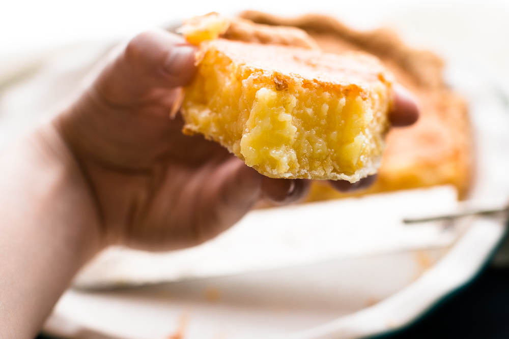 Lemon Chess Pie is a perfect tartly sweet Southern creation of eggs, sugar, butter, and a little bit of flour and cornmeal that tantalizes the taste buds with it's unique flavor and texture.