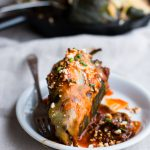Turkey Enchilada Stuffed Poblano Peppers