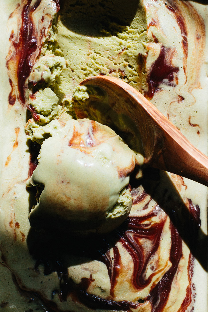 This Matcha Green Tea Ice Cream with Sweet Red Bean is creamy and soft with a definite bite of matcha tea that is tempered with the sweetness of the red bean paste. | www.megiswell.com