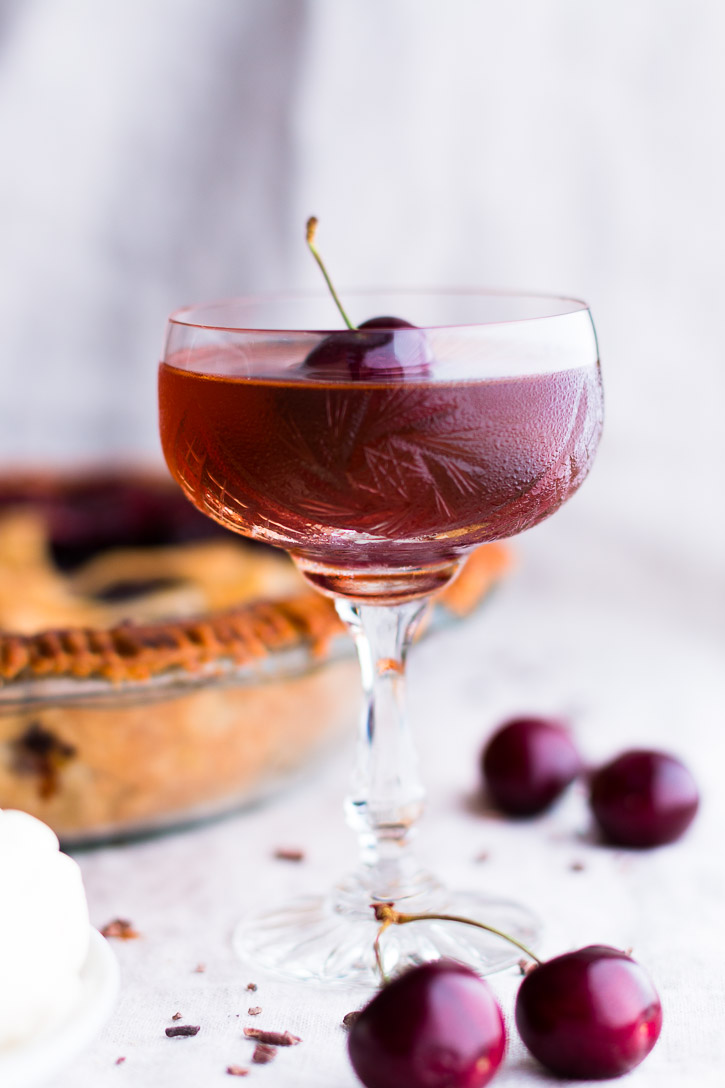 Bourbon Cherry Pie with Cocoa Nibs + Bourbon Cocktail ...