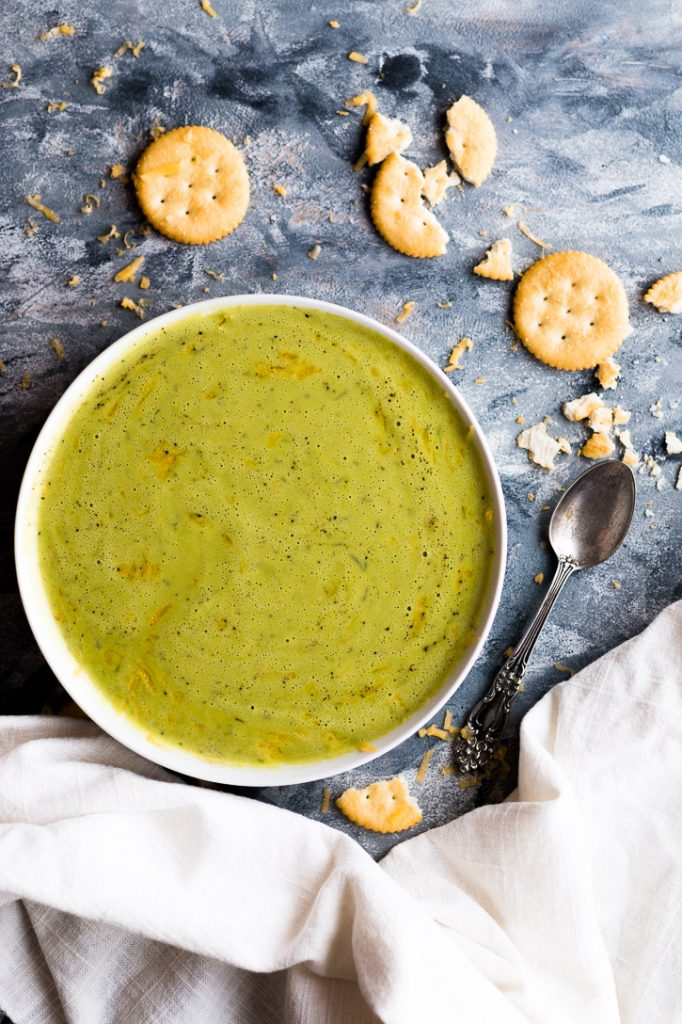 Turn leftover cheese sauce into a quick and easy 5-ingredient blender Broccoli Soup. | www.megiswell.com