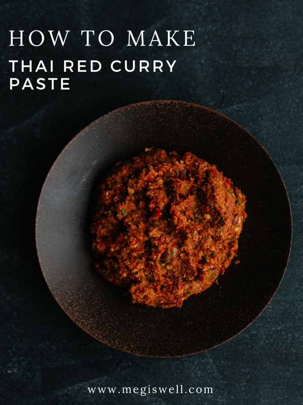 Make Thai Red Curry Paste from scratch and add amazing flavor to your cooking! | www.megiswell.com