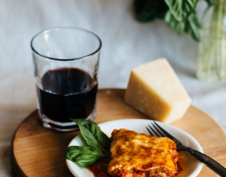 Ricotta Zucchini Lasagna uses whole milk basket ricotta and easy homemade marinara to make an extremely flavorful but light main dish. #zucchinilasagna #zucchini #healthy #lowcarb #homemade #maindish | www.megiswell.com