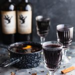 This Holiday Mulled Wine with Apple Cider and Brandy can be made on the stovetop or slow cooker and is perfect for holiday entertaining. | Christmas | Thanksgiving | crockpot | www.megiswell.com