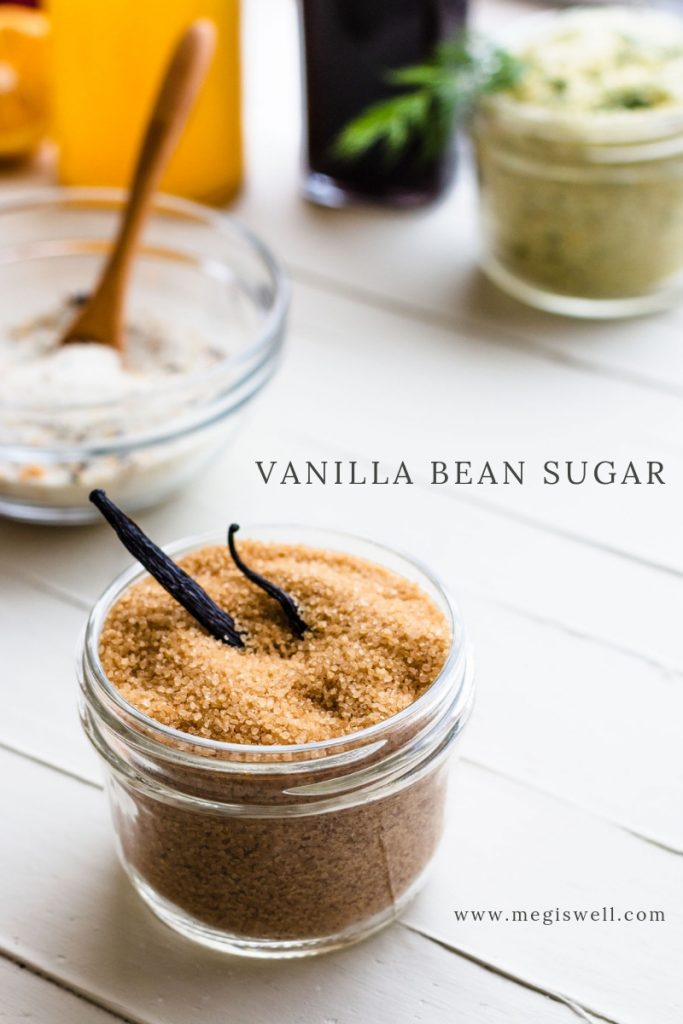 This Vanilla Bean Sugar has both vanilla bean and vanilla extract infused into the sugar, making the best smelling and best tasting sugar ever! | Infused Sugar | DIY | How to Make Vanilla Sugar | Vanilla Beans | #infusedsugar #megiswell #meganwellsphotography | www.megiswell.com