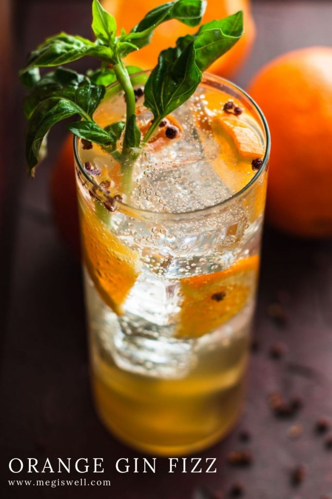 This Orange Gin Fizz has a dreamy orange sweetness that is spiked with a slightly citrus & pepper undertow and malty richness. Gin Bar | DIY | Cocktail Recipe | #ginfizz #shrubcocktail #megiswell #meganwellsphotography | www.megiswell.com