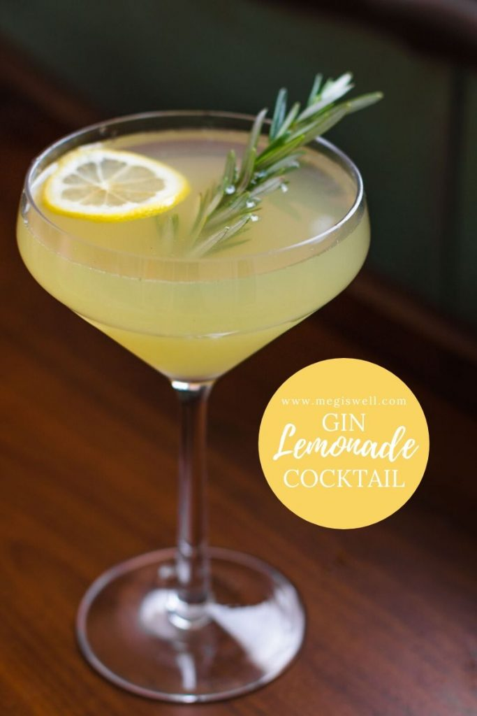 This Gin Lemonade Cocktail contains the ultimate mix of refreshing herbs, spices, and citrus elements to make it the perfect treat for hot summer days. Gin Bar | DIY | Cocktail Recipe | #ginbar #lemonade #cocktailrecipe #shrubcocktail #megiswell #meganwellsphotography | www.megiswell.com