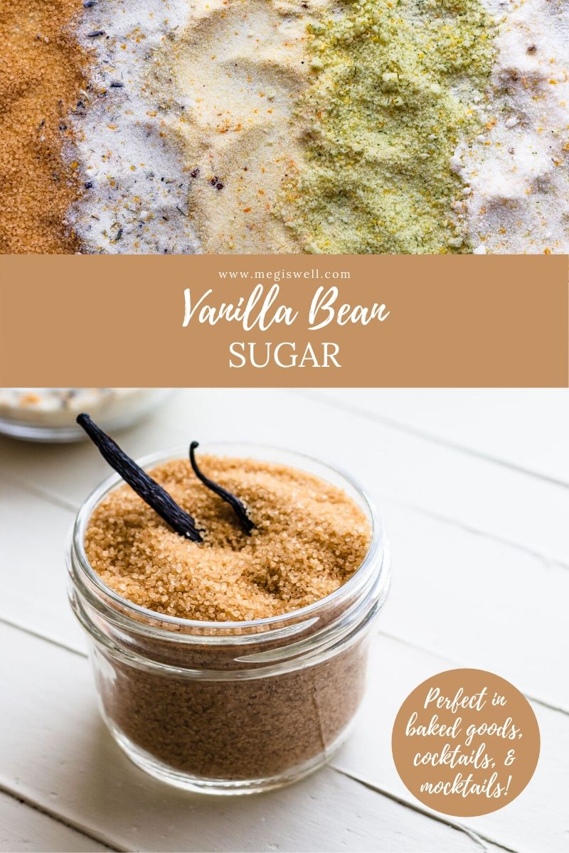 This Vanilla Bean Sugar has both vanilla bean and vanilla extract infused into the sugar, making the best smelling and best tasting sugar ever! | Infused Sugar | DIY | How to Make Vanilla Sugar | How to Infuse Sugar | Vanilla Beans | #infusedsugar #vanillabeansugar #flavoredsugar #howtomake #megiswell | www.megiswell.com